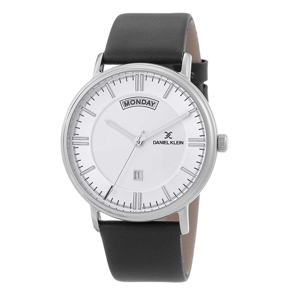 Leather Mens''s Black Watch - DK.1.12258-1