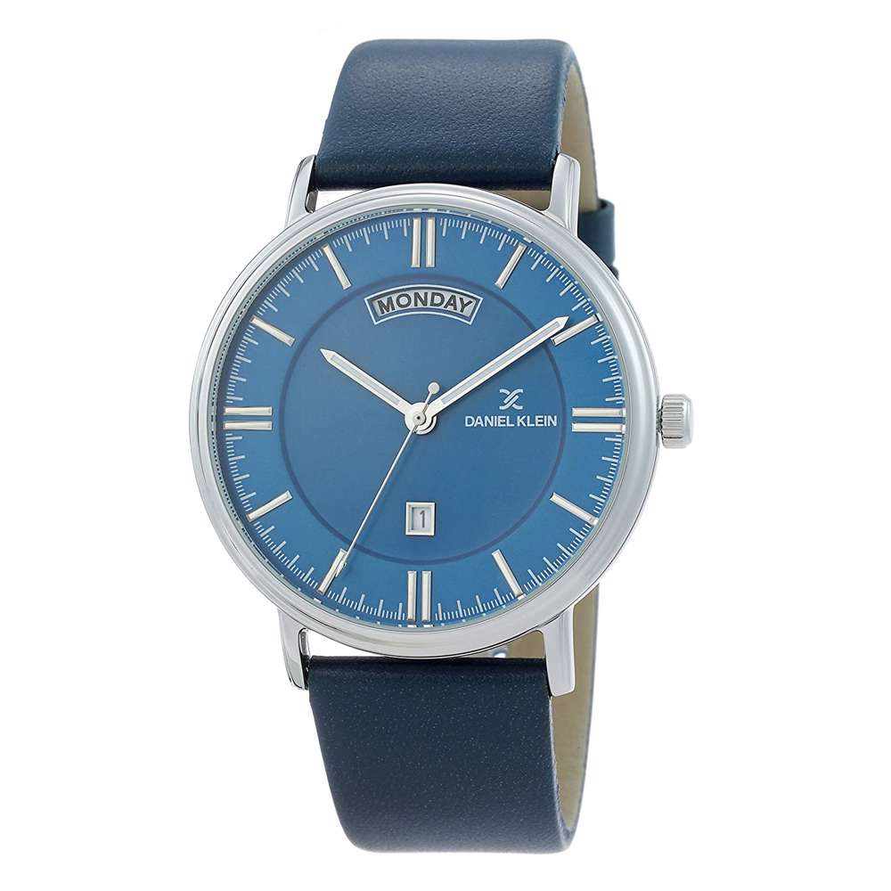 Leather Mens''s Blue Watch - DK.1.12258-3