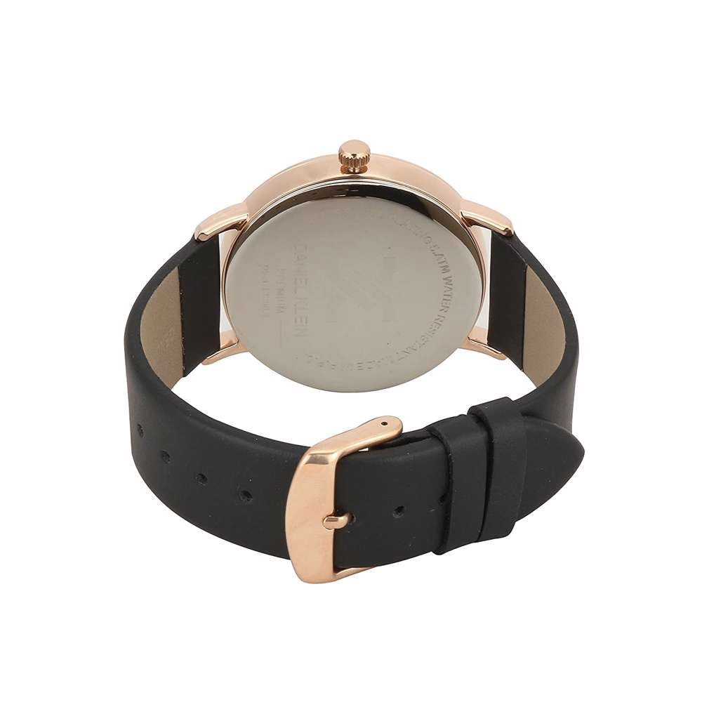 Leather Mens''s Black Watch - DK.1.12258-4