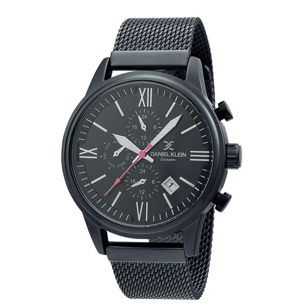 Mesh Band Mens''s Black Watch - DK.1.12259-5