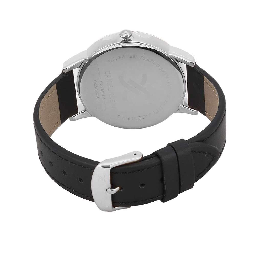 Leather Mens''s Black Watch - DK.1.12261-2