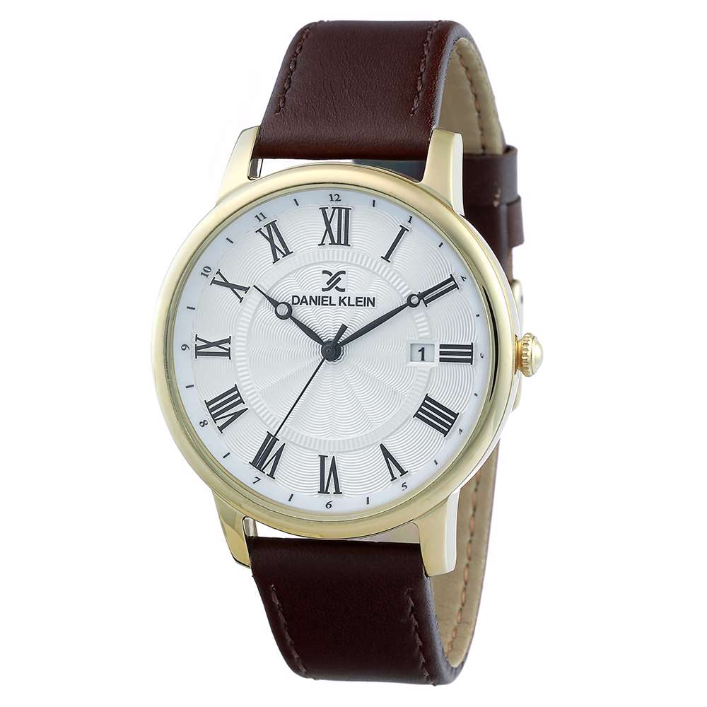 Leather Mens''s Brown Watch - DK.1.12261-4