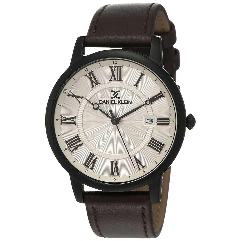Leather Mens''s Dark Brown Watch - DK.1.12261-5