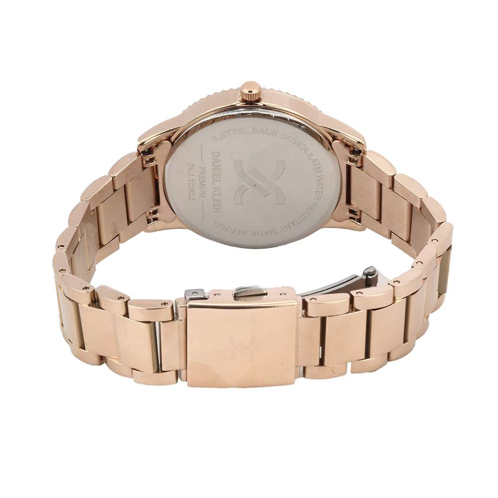 Stainless Steel Womens''s Rose Gold Watch - DK.1.12262-2