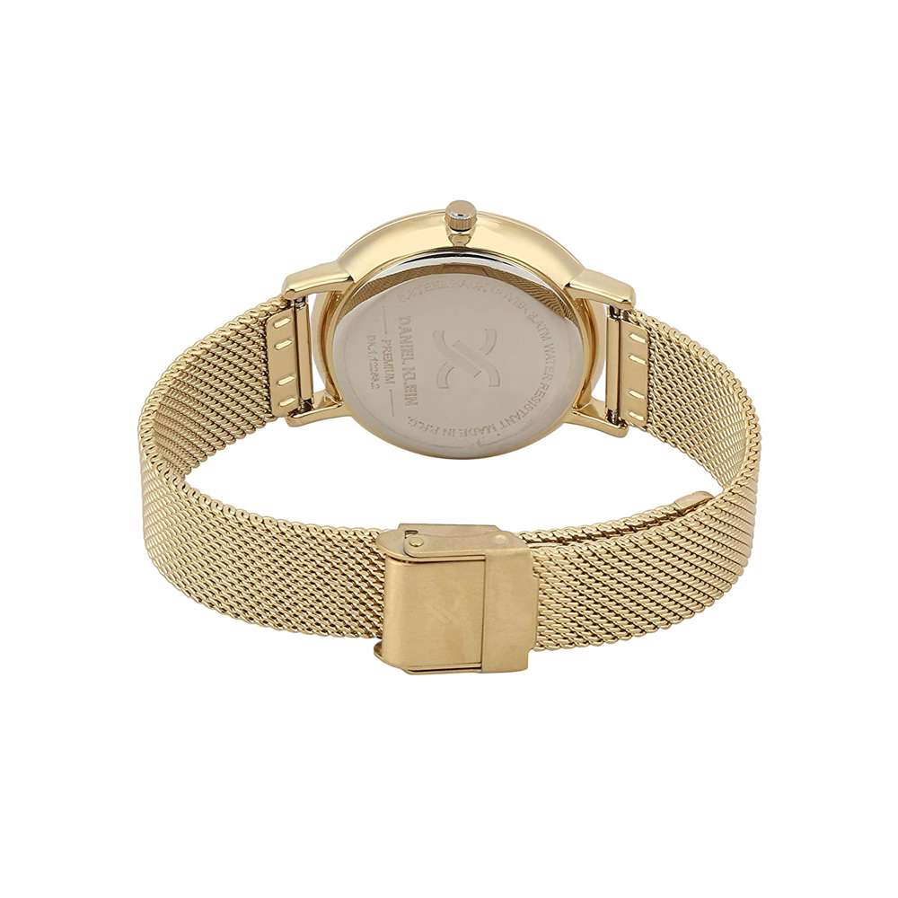 Mesh Band Womens''s Gold Watch - DK.1.12263-2