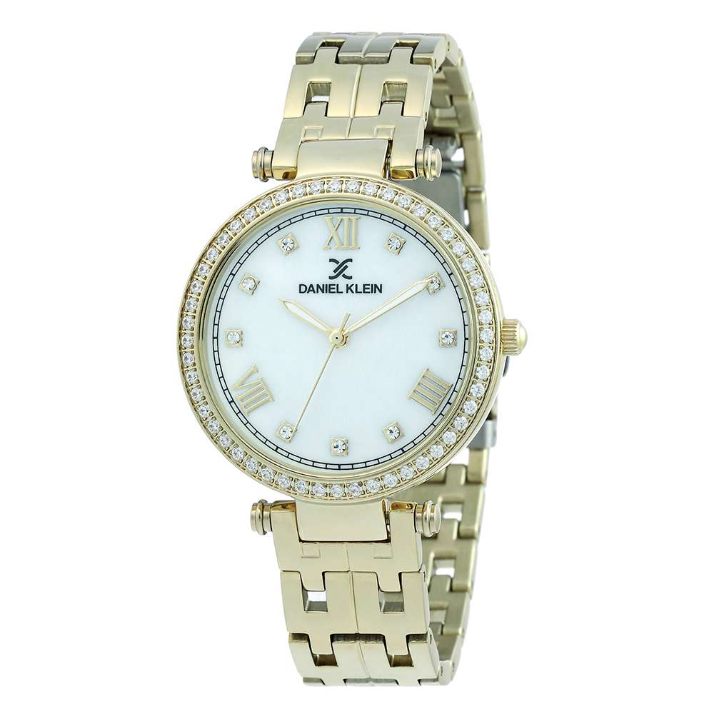 Stainless Steel Womens''s Gold Watch - DK.1.12266-3