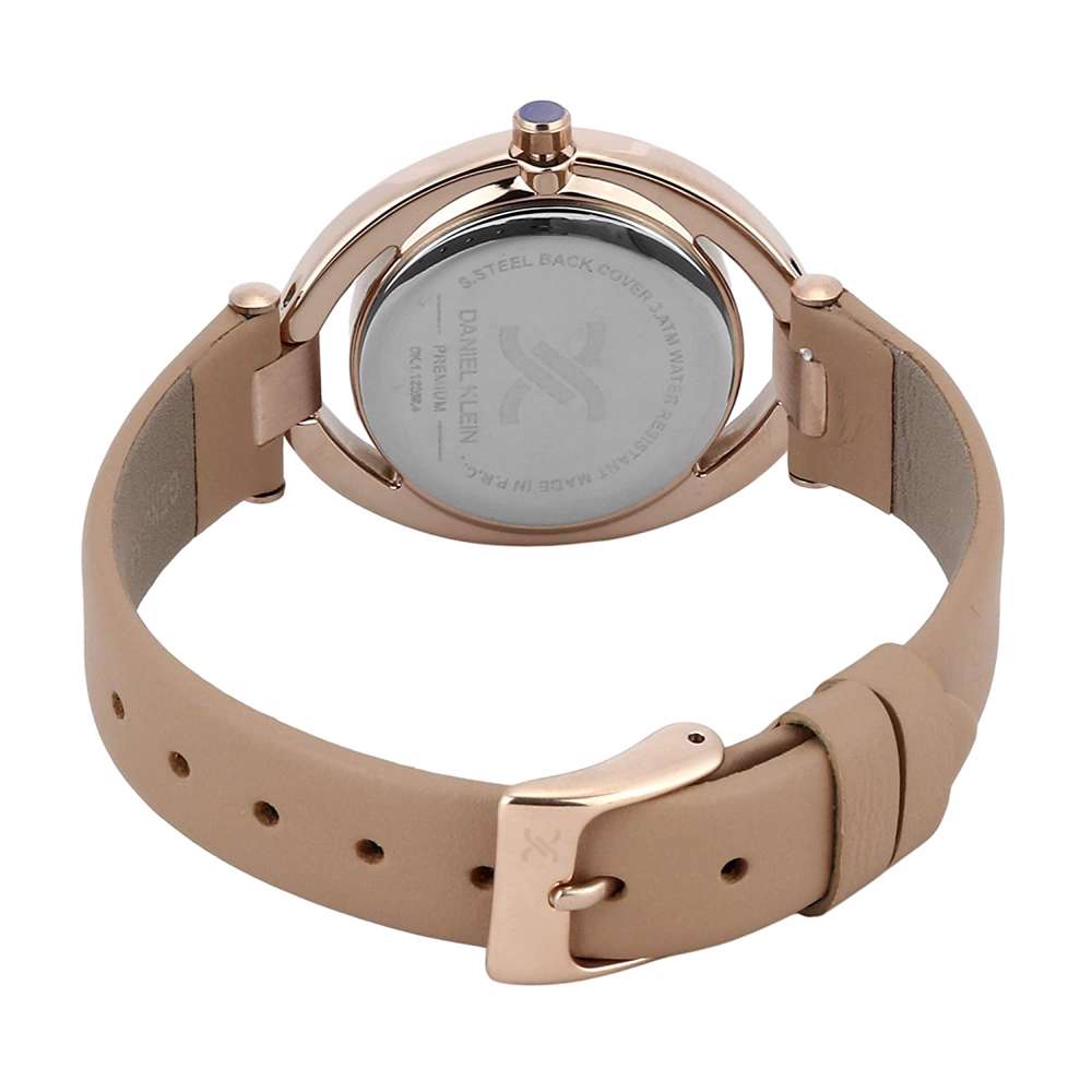Leather Womens''s Light Brown Watch - DK.1.12269-4
