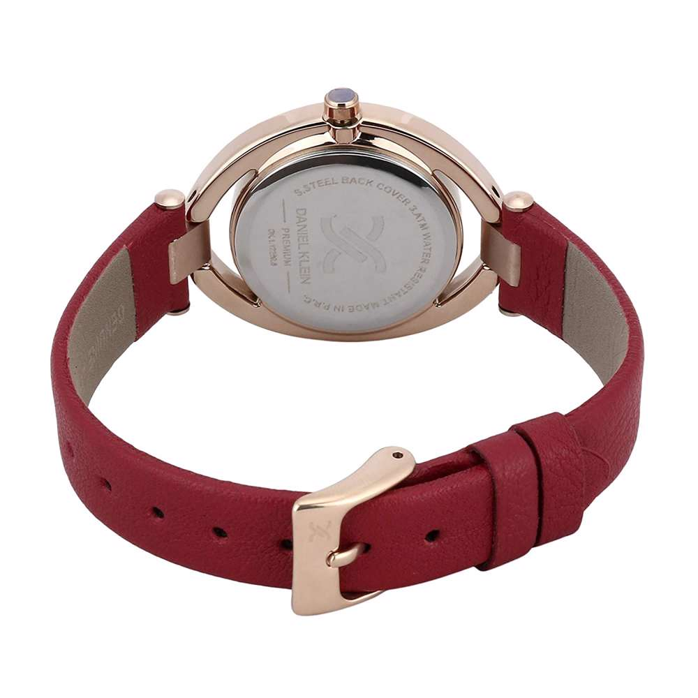 Leather Womens''s Red Watch - DK.1.12269-6