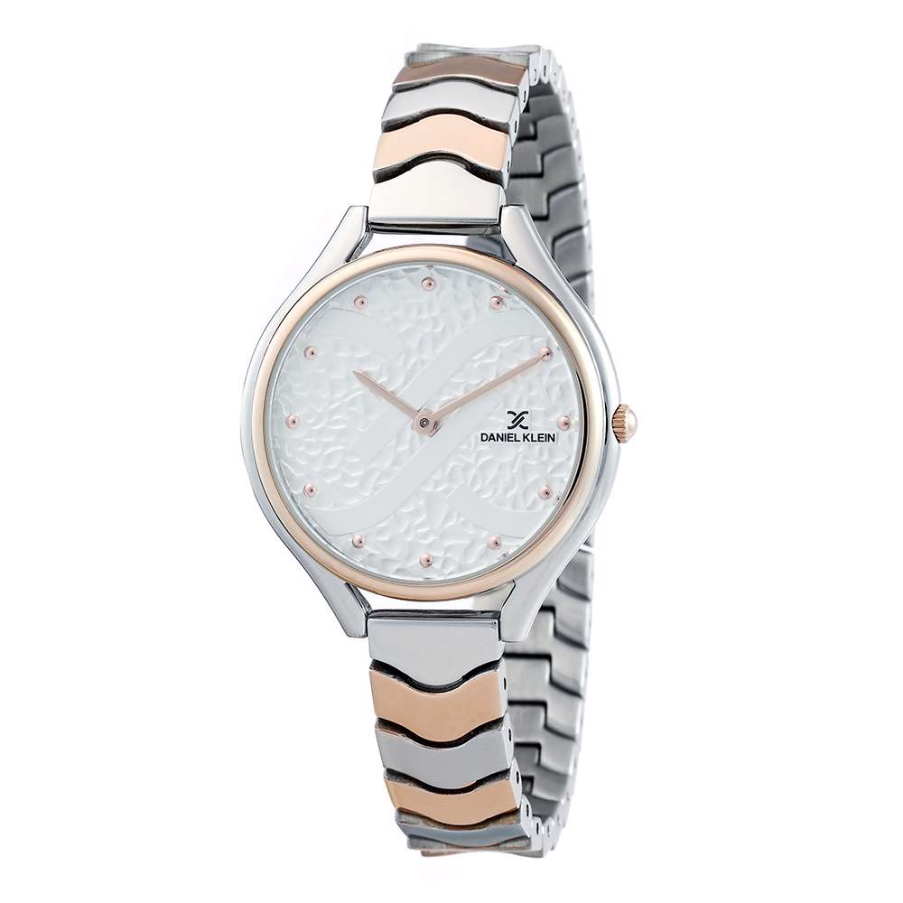 Stainless Steel Womens''s Two Tone Rose Watch - DK.1.12271-4