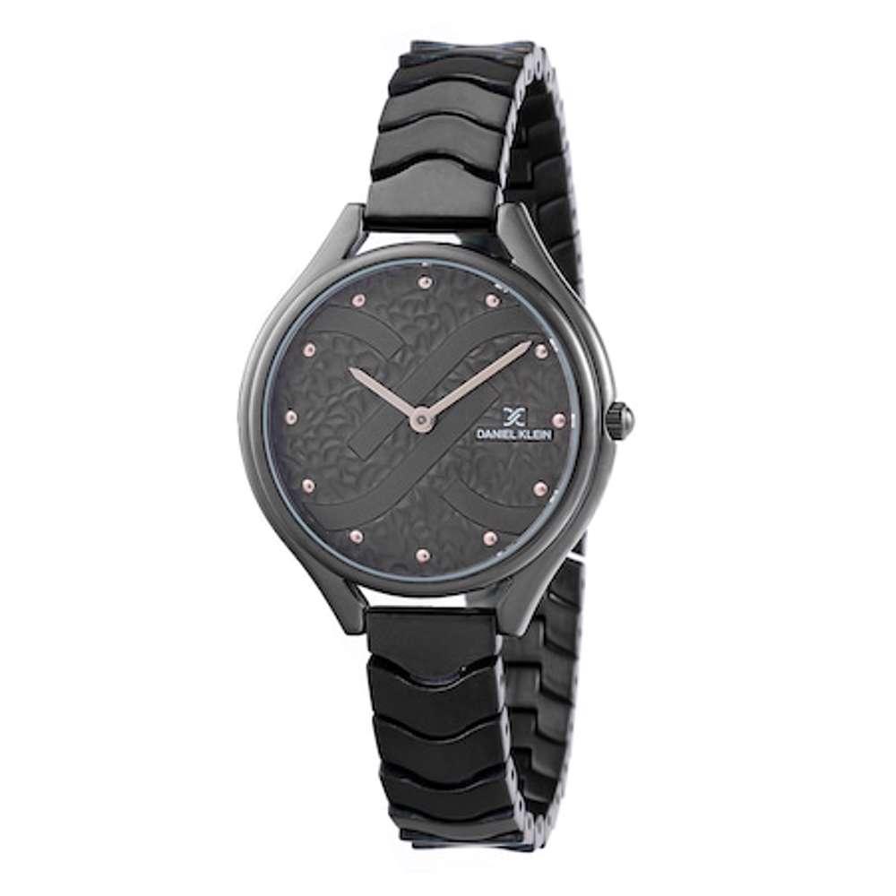 Stainless Steel Womens''s Black Watch - DK.1.12271-5