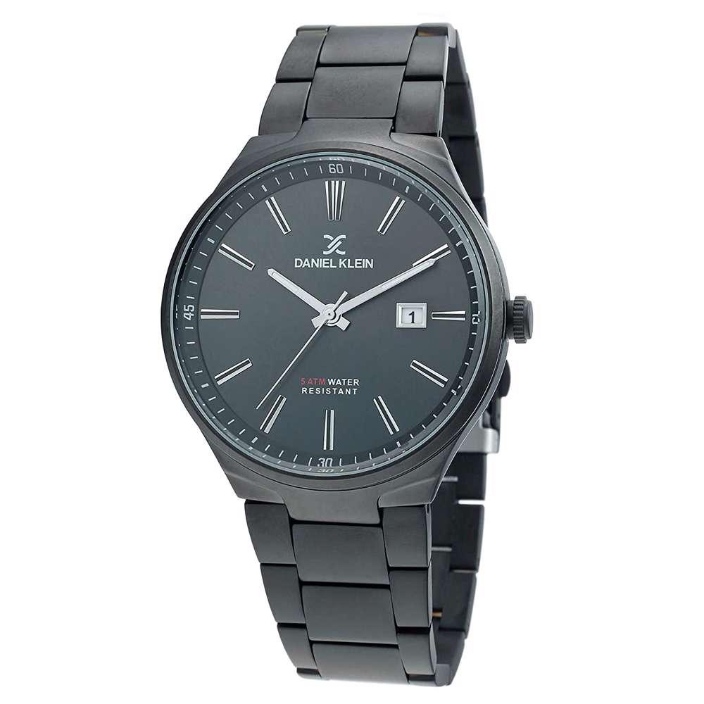 Stainless Steel Mens''s Black Watch - DK.1.12272-5