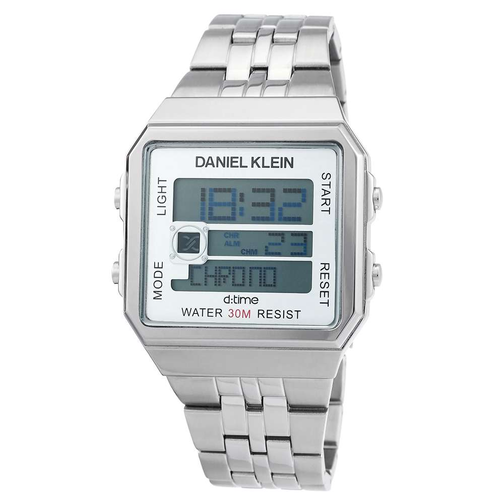 Stainless Steel Mens''s Silver Watch - DK.1.12274-1