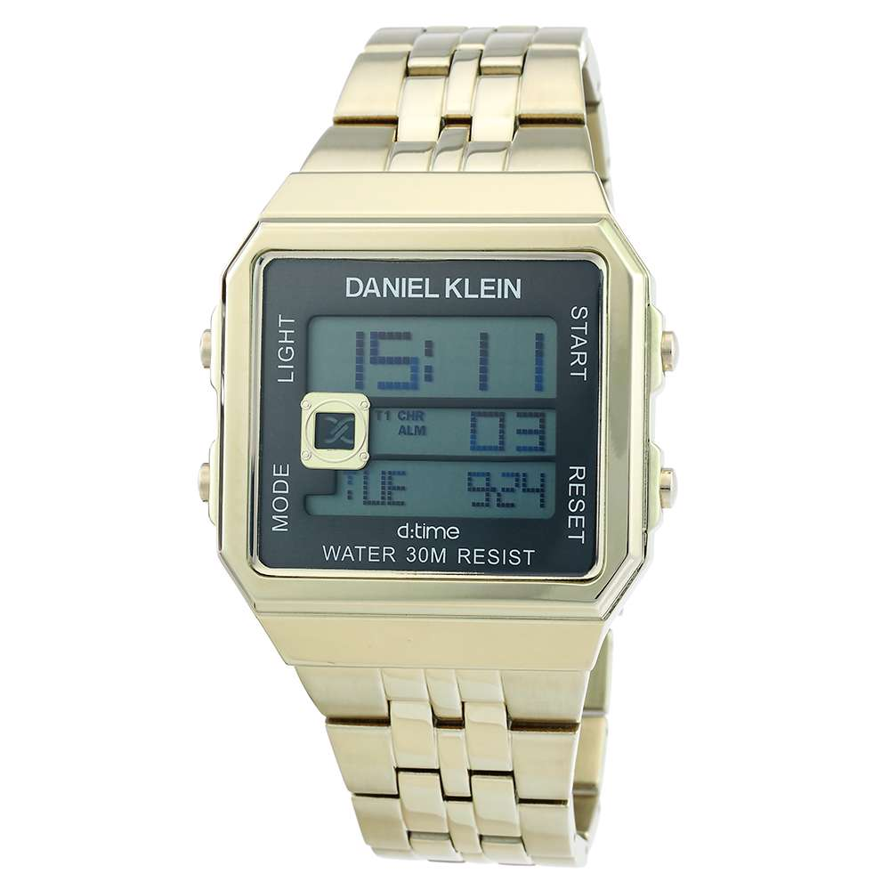 Stainless Steel Mens''s Gold Watch - DK.1.12274-6