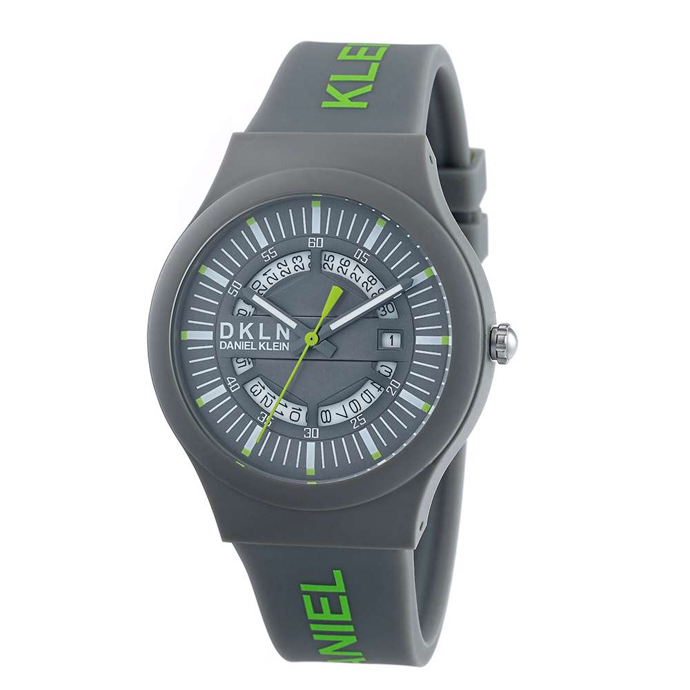 Silicone Mens''s Grey Watch - DK.1.12275-4