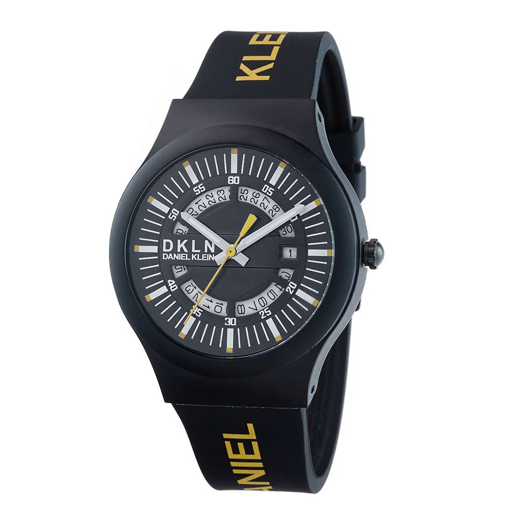 Silicone Mens''s Black Watch - DK.1.12275-7