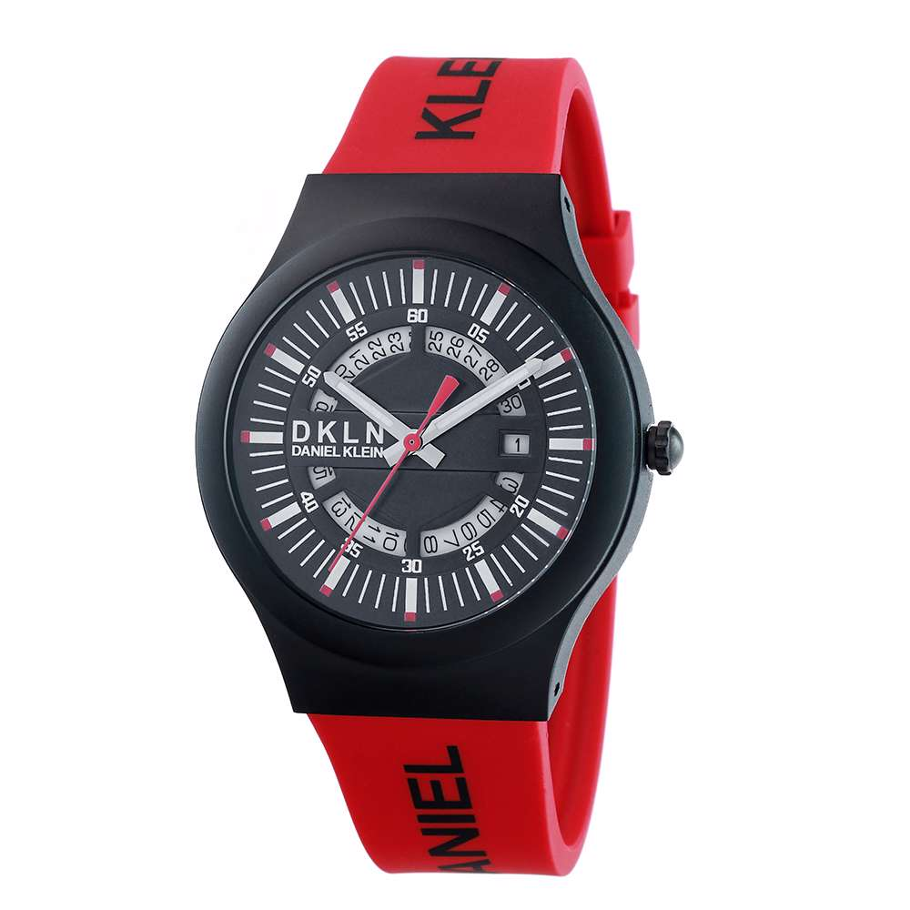 Silicone Mens''s Red Watch - DK.1.12275-8