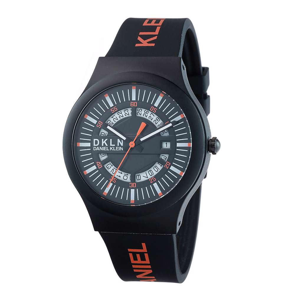 Silicone Mens''s Black Watch - DK.1.12275-9