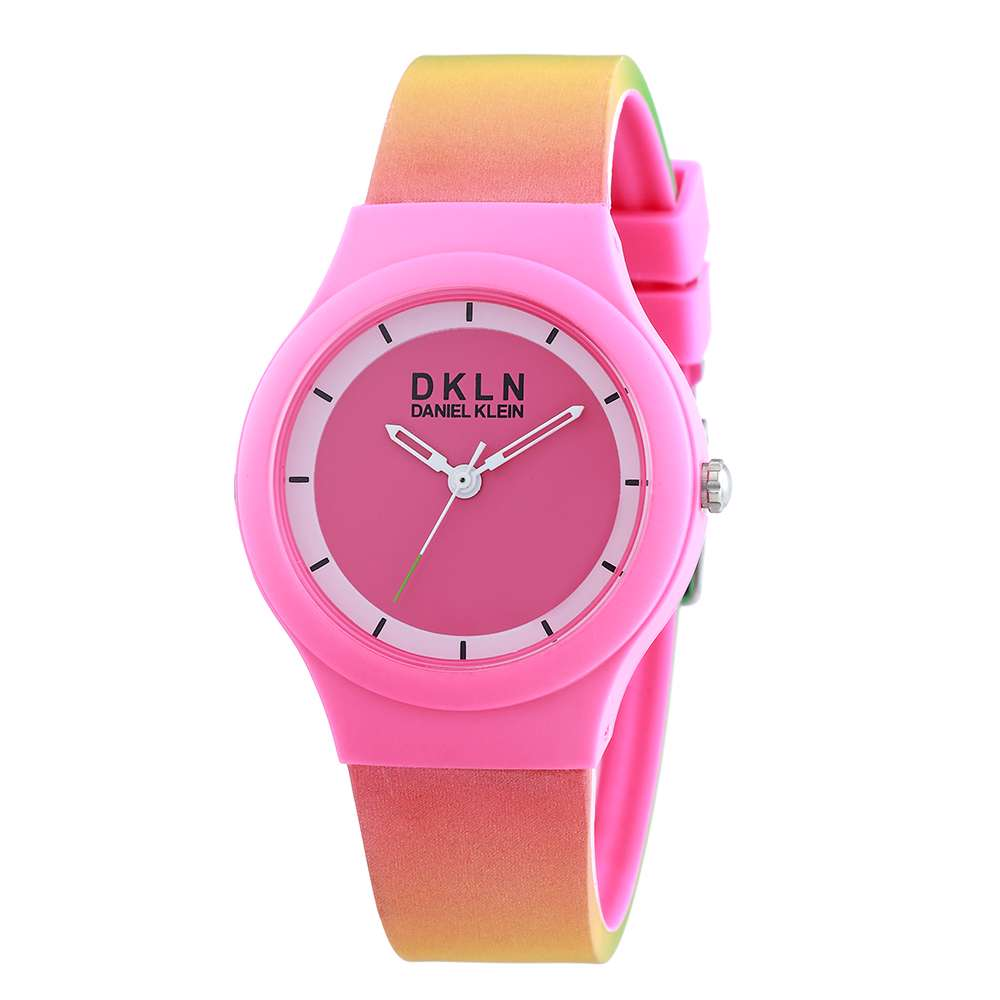 Silicone Womens''s Pink Watch - DK.1.12277-7