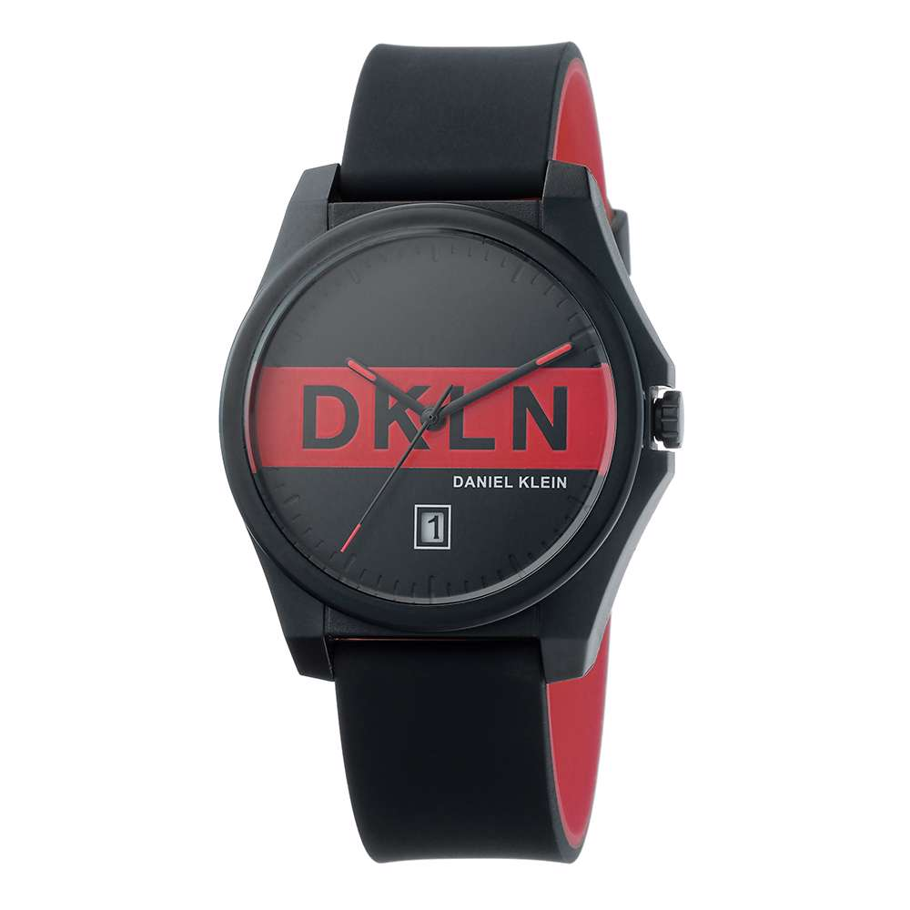 Silicone Mens''s Black Watch - DK.1.12278-3