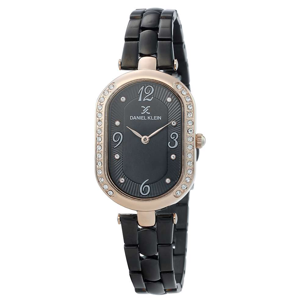 Stainless Steel Womens''s Black Watch - DK.1.12283-6