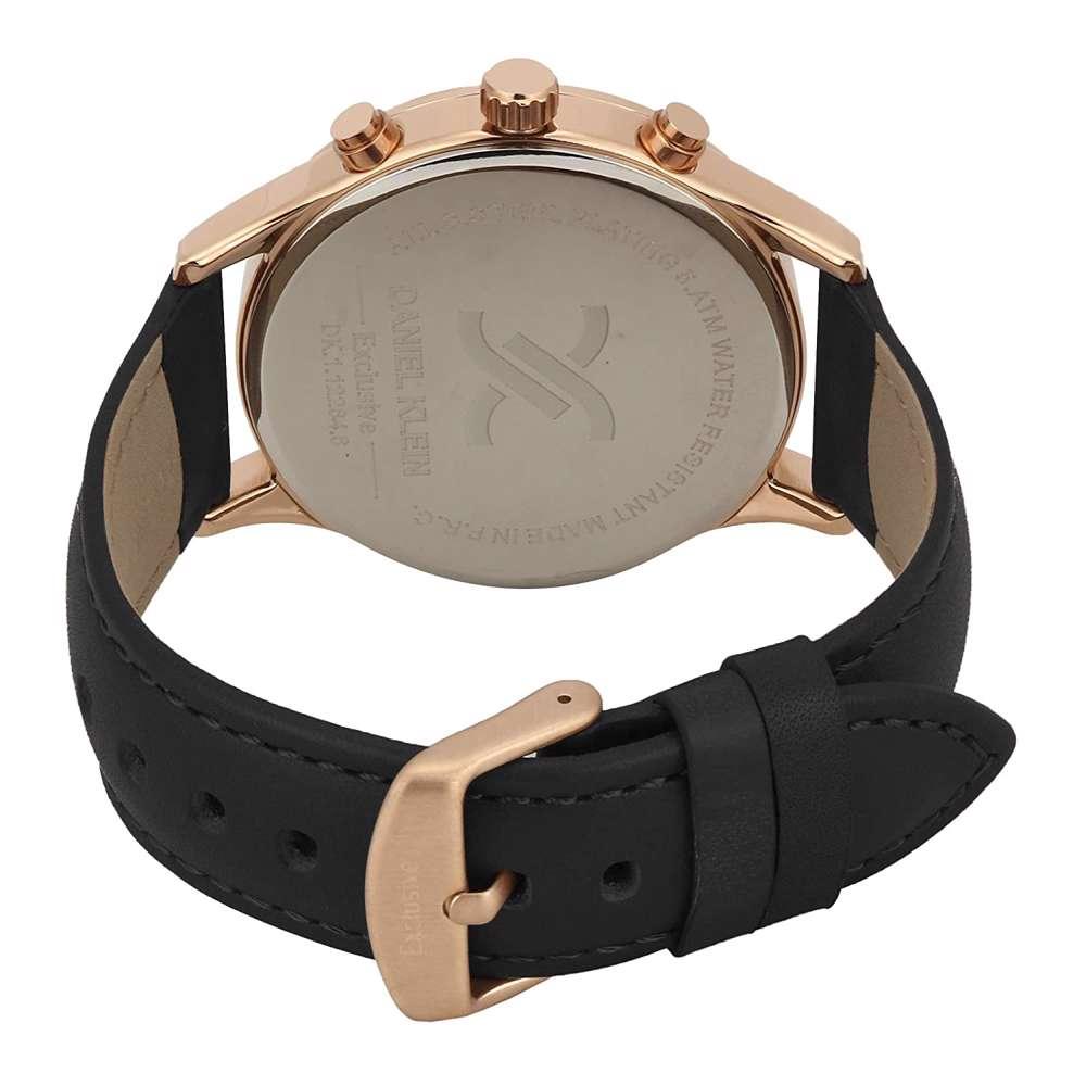 Leather Mens''s Black Watch - DK.1.12284-4
