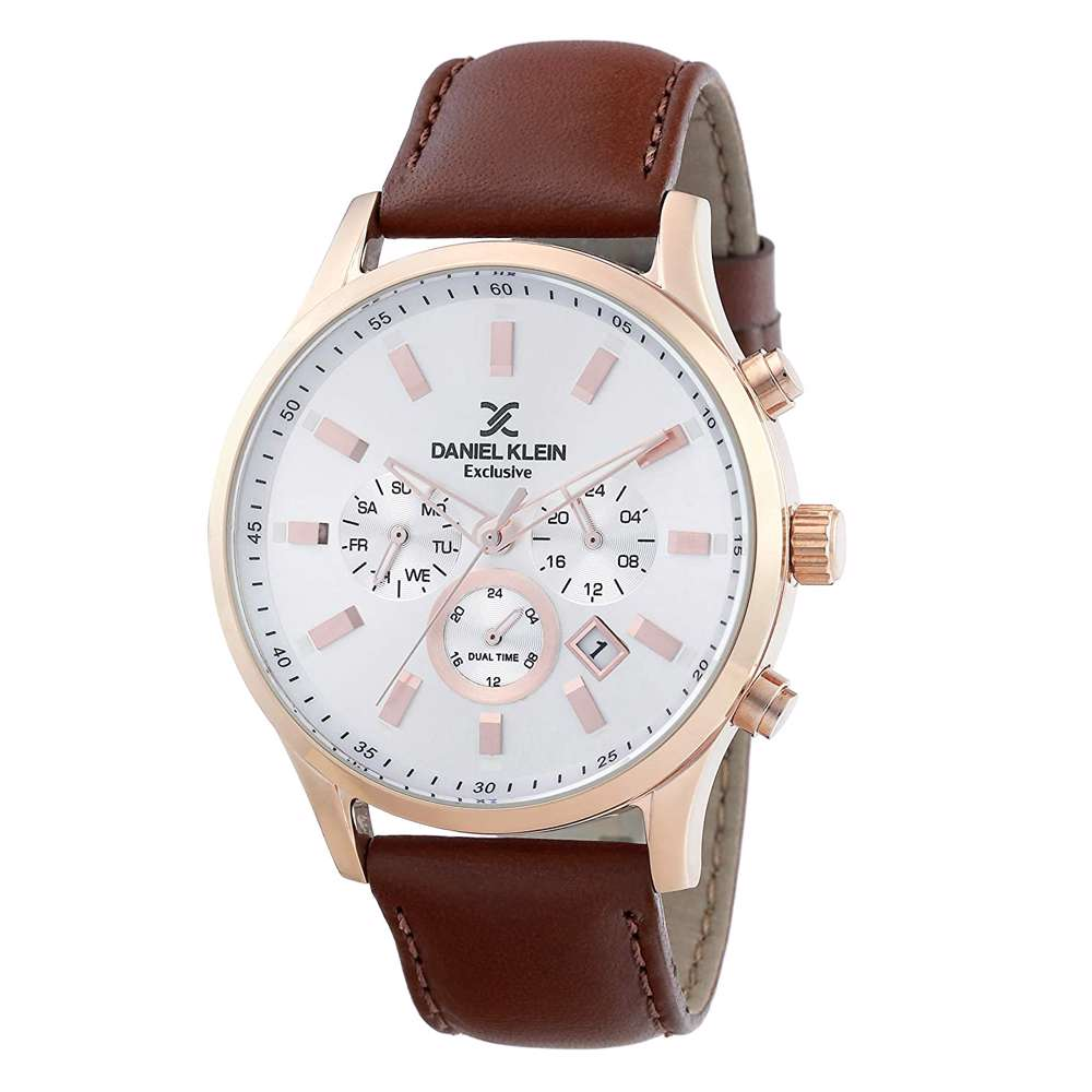 Leather Mens''s Brown Watch - DK.1.12284-6