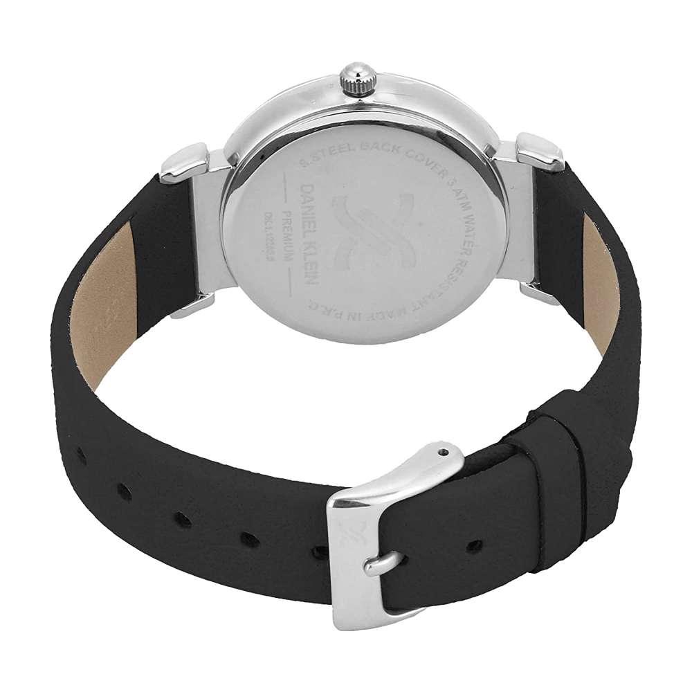 Leather Womens''s Black Watch - DK.1.12285-1