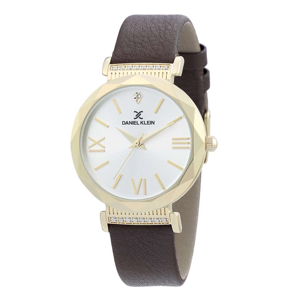 Leather Womens''s Brown Watch - DK.1.12285-3
