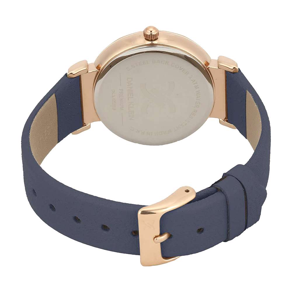 Leather Womens''s Blue Watch - DK.1.12285-4