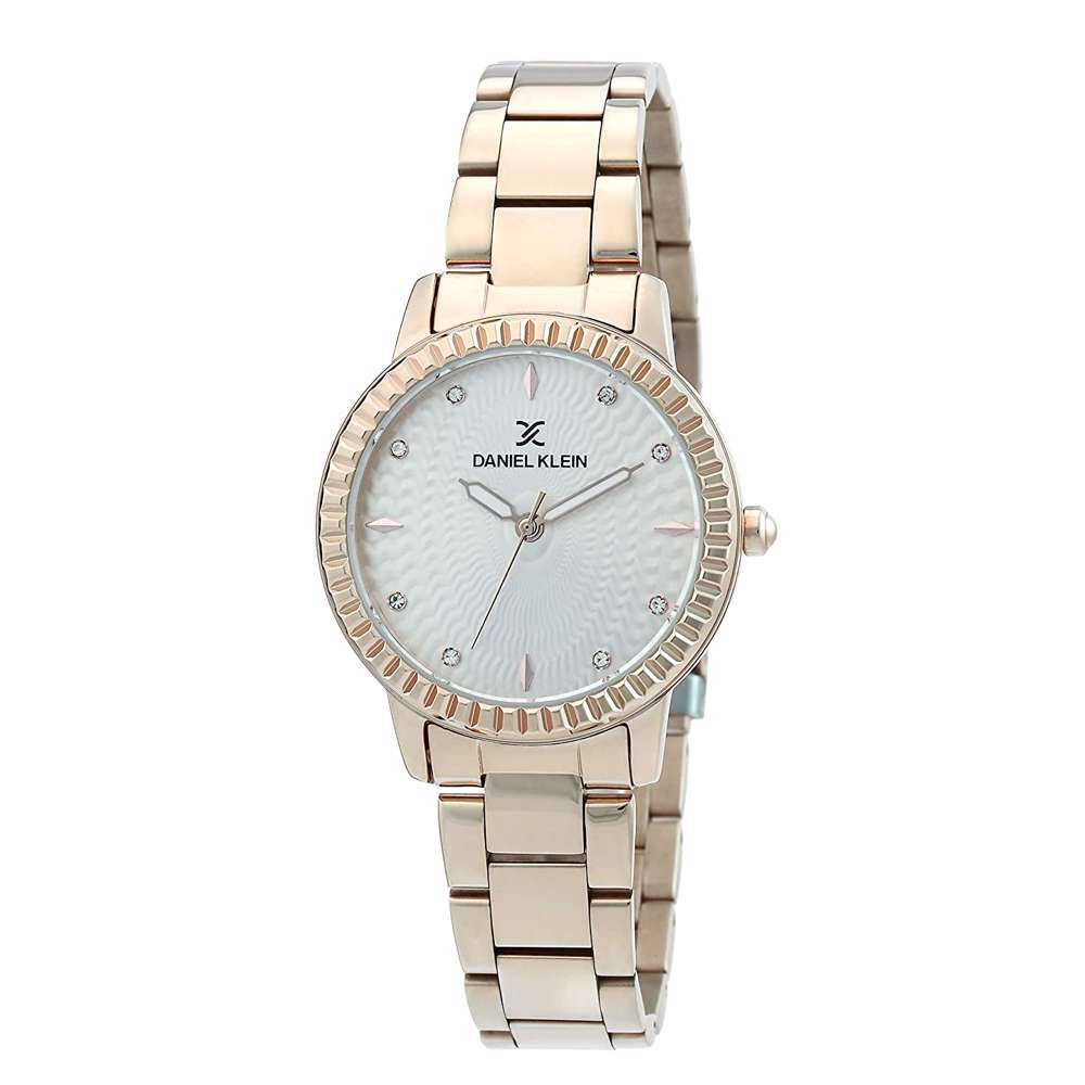 Stainless Steel Womens''s Rose Gold Watch - DK.1.12287-2