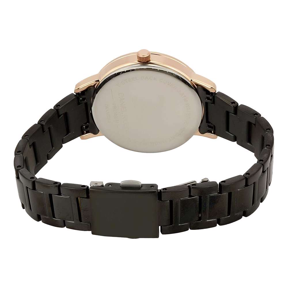 Stainless Steel Womens''s Black Watch - DK.1.12288-6