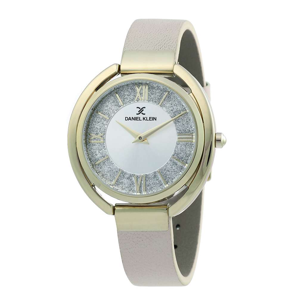 Leather Womens''s Beige Watch - DK.1.12289-2