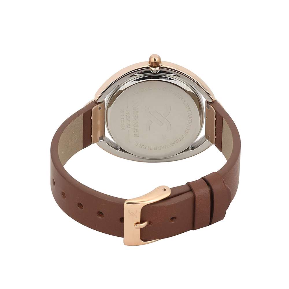 Leather Womens''s Brown Watch - DK.1.12289-3