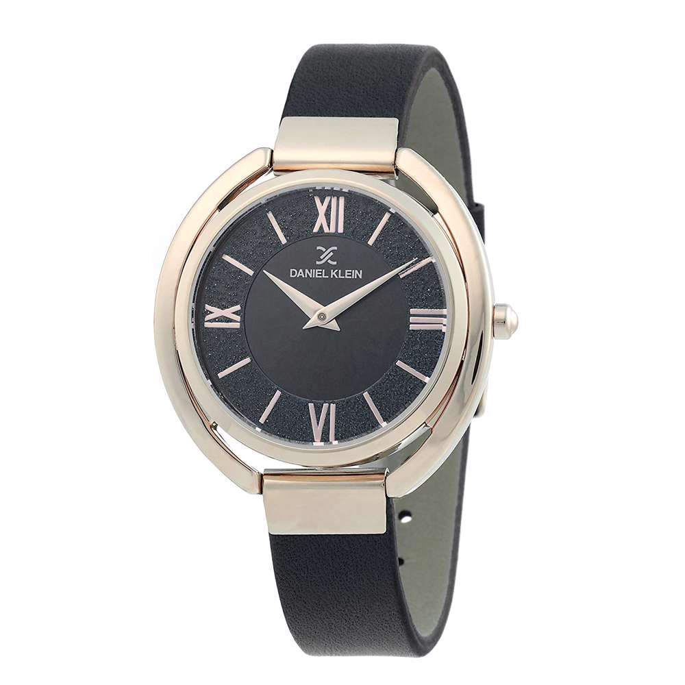 Leather Womens''s Black Watch - DK.1.12289-5