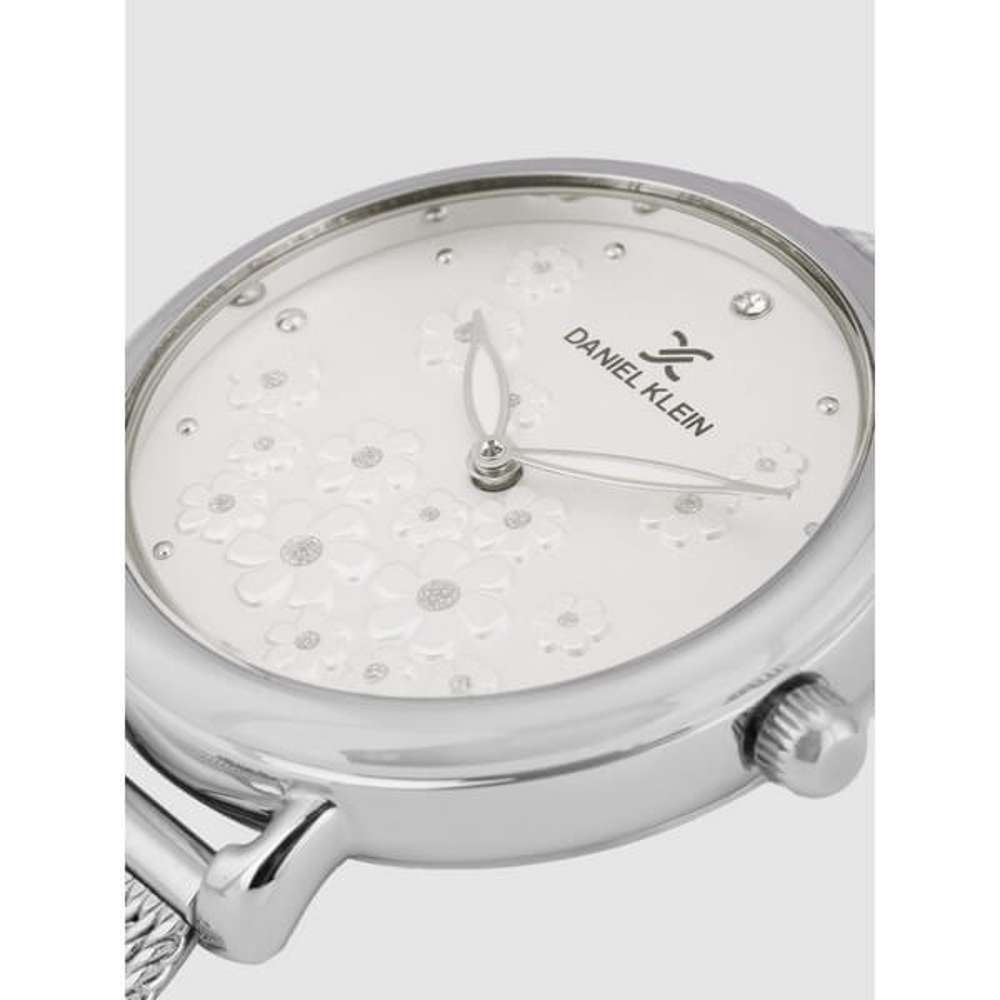 Mesh Band Womens''s Silver Watch - DK.1.12291-1