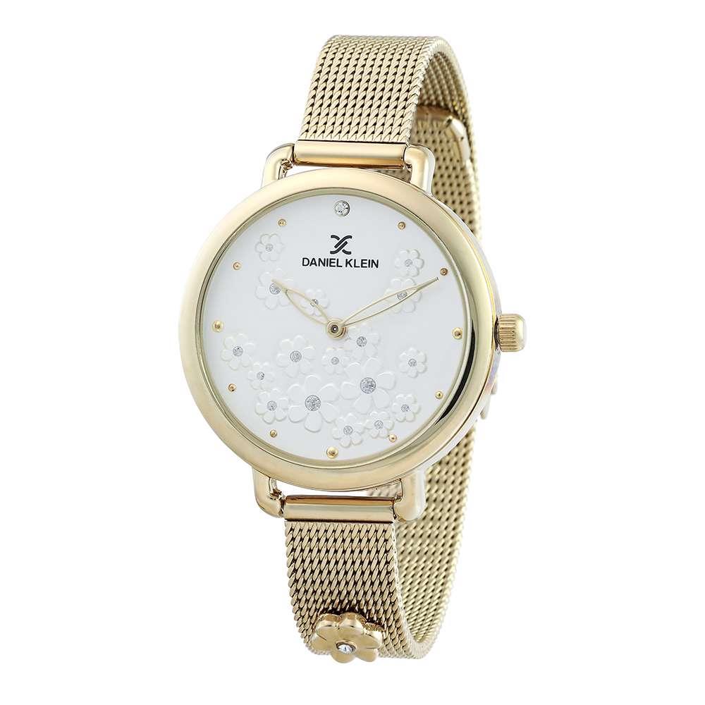 Mesh Band Womens''s Gold Watch - DK.1.12291-3