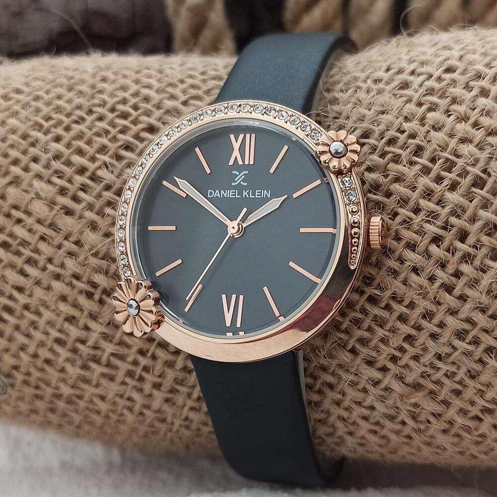 Leather Womens''s Black Watch - DK.1.12292-4