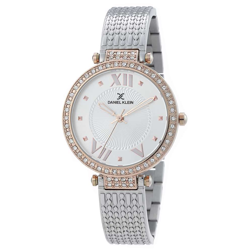 Stainless Steel Womens''s Two Tone Rose Watch - DK.1.12293-1
