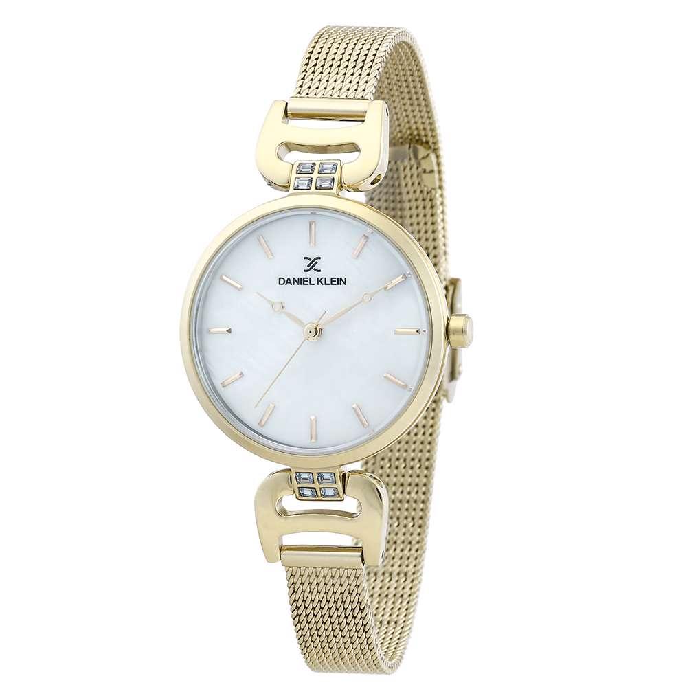 Mesh Band Womens''s Gold Watch - DK.1.12294-3