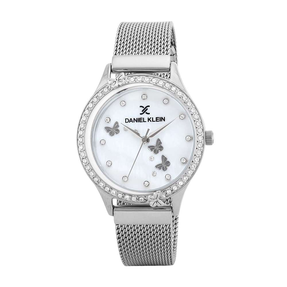 Mesh Band Womens''s Silver Watch - DK.1.12295-1