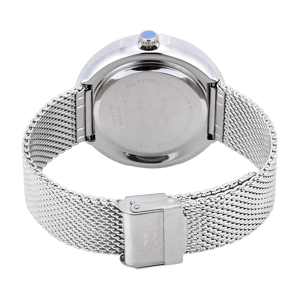 Mesh Band Mens''s Silver Watch - DK.1.12296-1