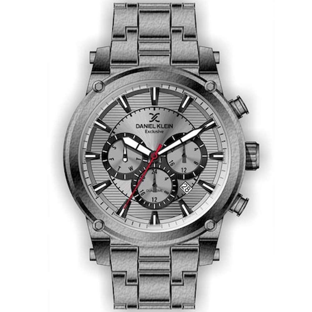 Stainless Steel Mens''s Grey Watch - DK.1.12297-6