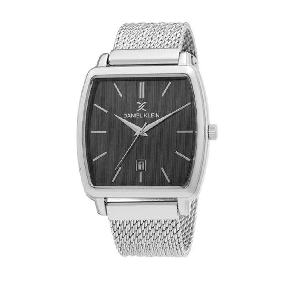 Mesh Band Mens''s Silver Watch - DK.1.12300-4