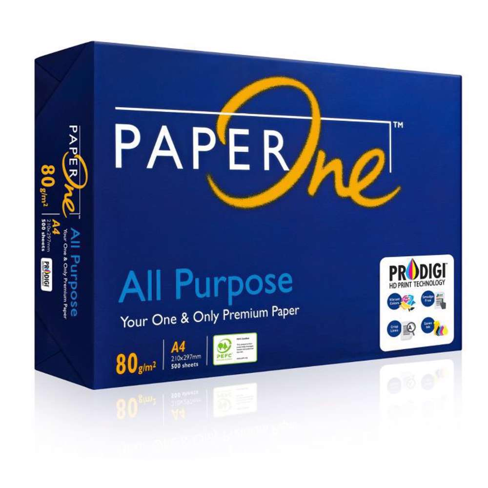 PaperOne All Purpose (80 gsm) A4 Size Reams (500 sheets) 5 Reams in a Carton