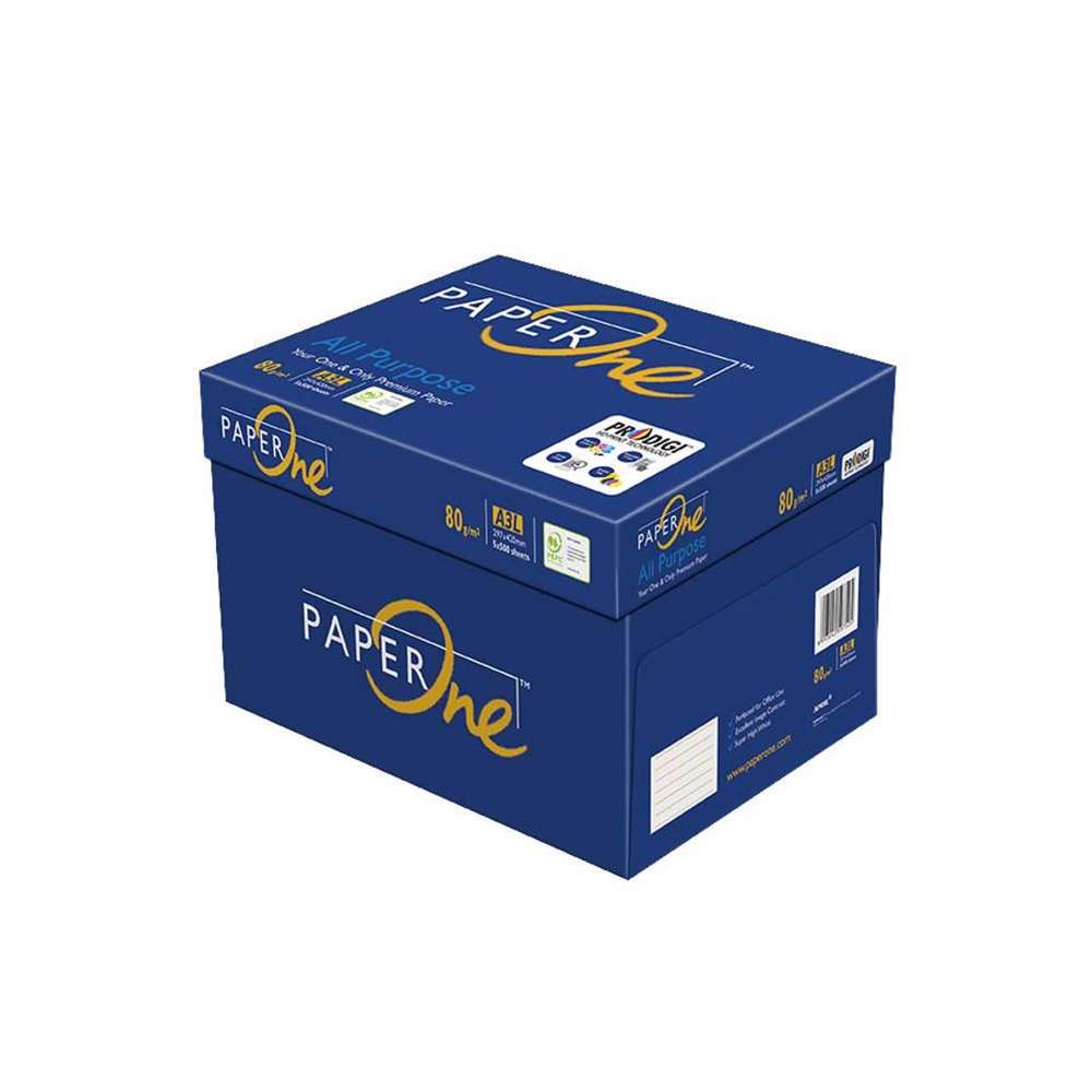 PaperOne All Purpose (80 gsm) A3 Size Reams (500 sheets) 5 Reams in a Carton
