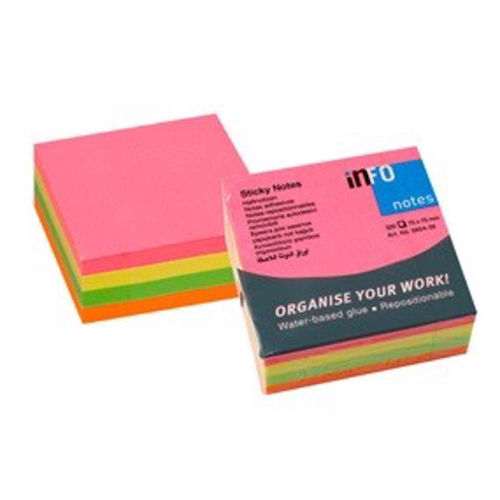 Info Notes Stick Notes 3×3 (75×75mm) Neon