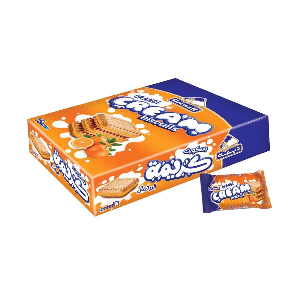 Deemah Orange Cream Biscuits 30gm Box 16Pcs