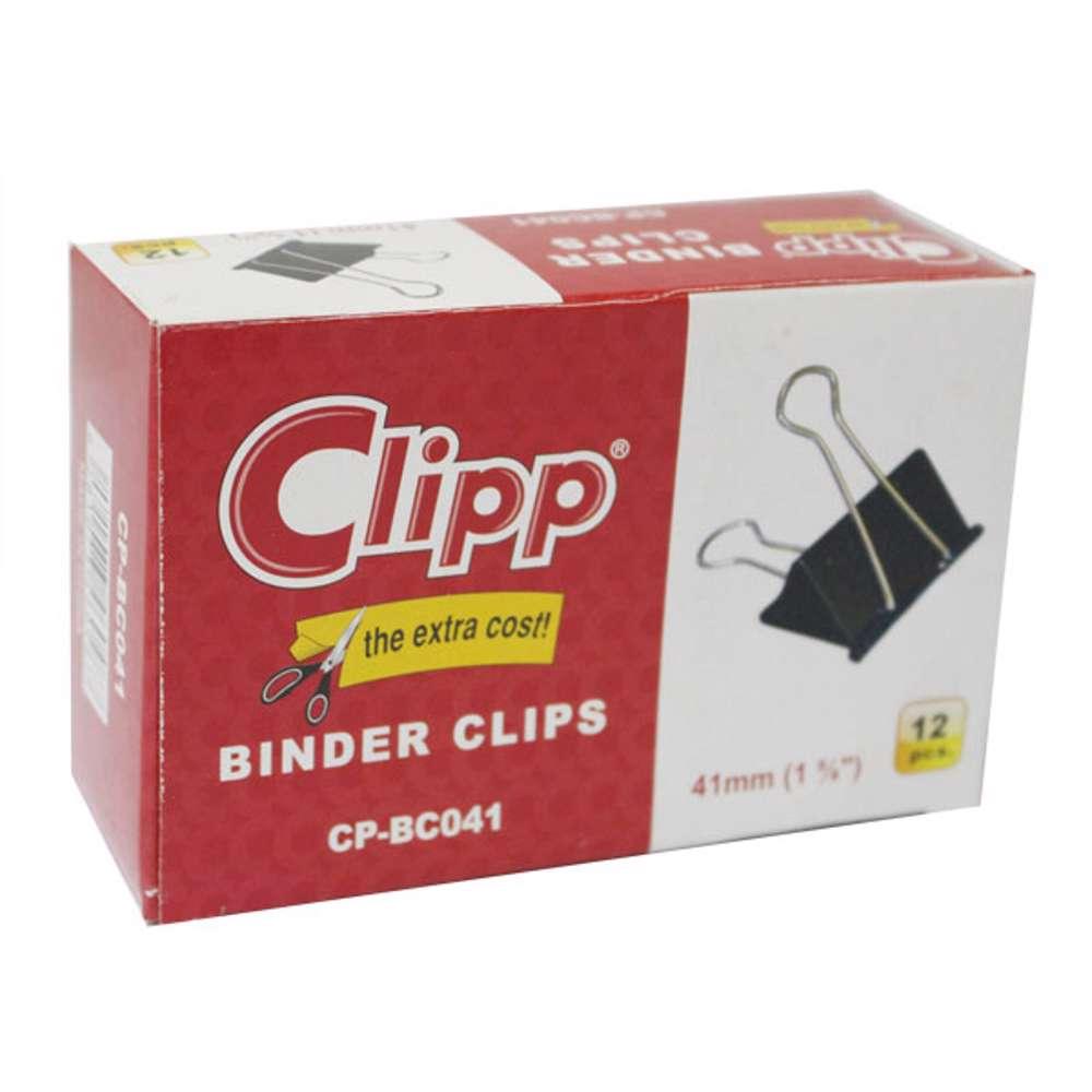 Clipp Binder Clip 41mm-12 Pcs/Pkt
