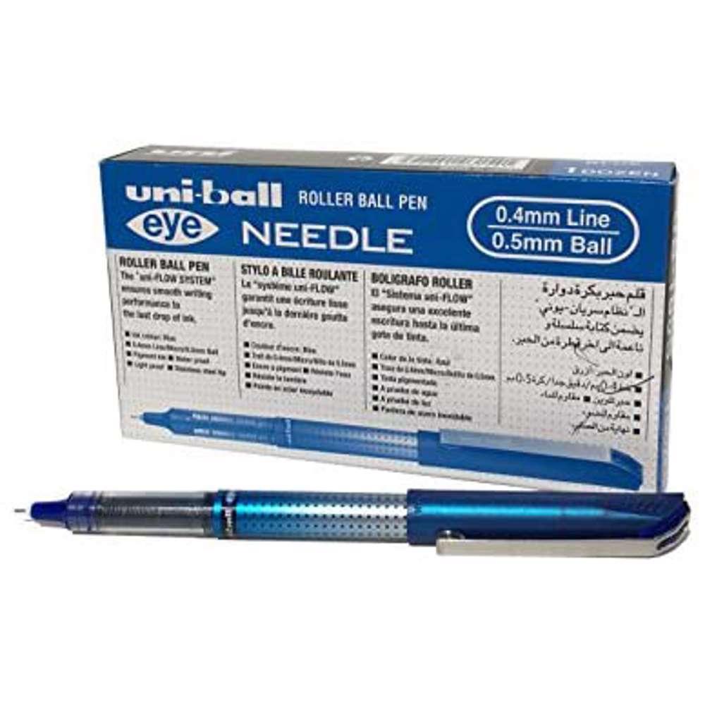 Uni-Ball Uni Eye Needle Ball Point Pen Ub185S-12 Pcs/Pkt