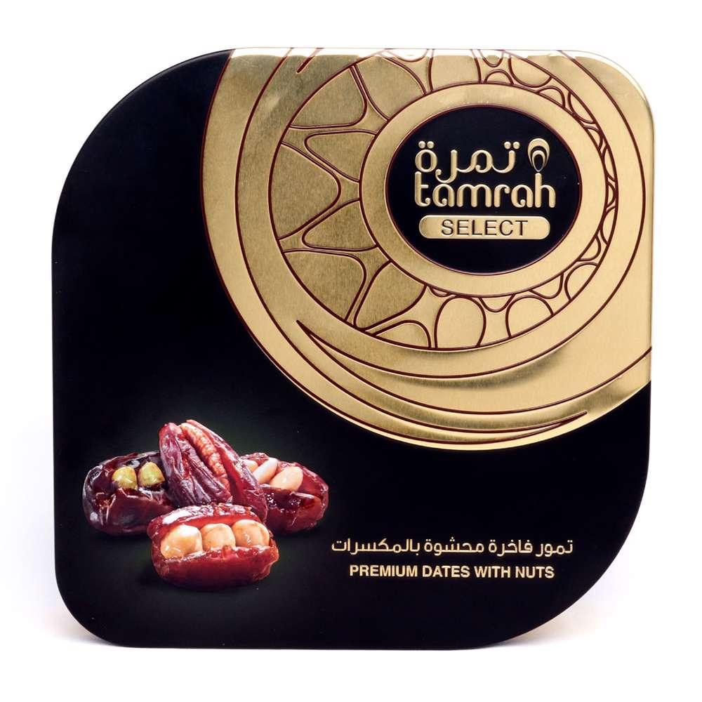 Tamrah Select Premium Khudari Stuffed Date Tin 626 Gm